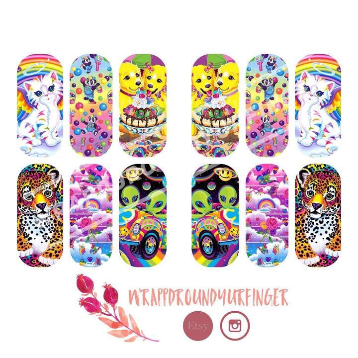 WrappdRoundYurFinger Water Slide Nail Wraps