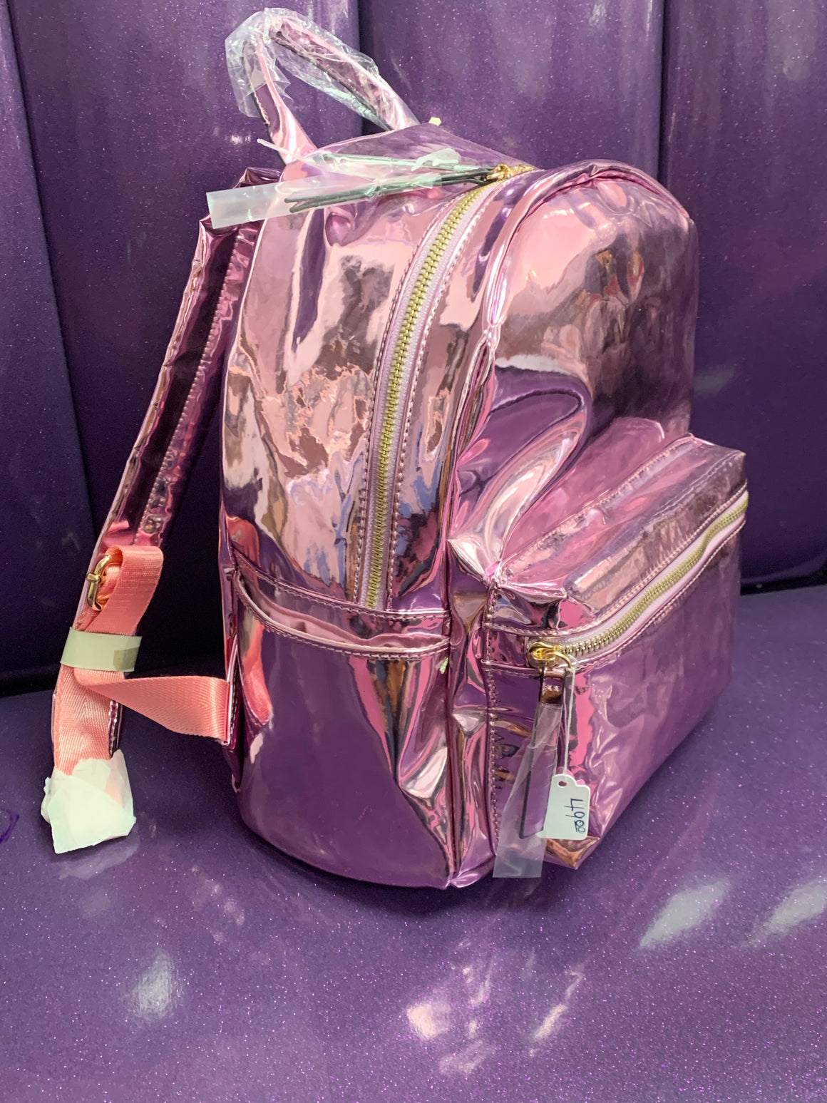 Metallic Pink Backpack