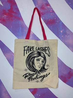 Fake Lashes Real Feelings Tote Bag