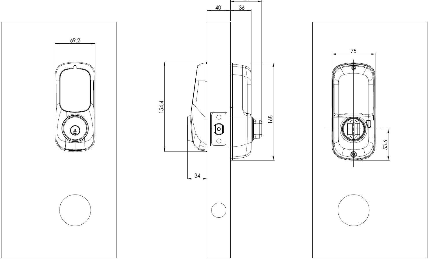 smart lock schematic drawing