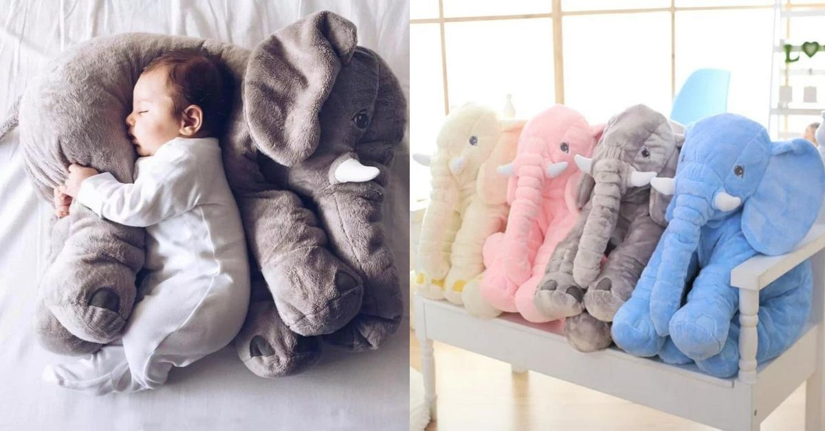 The Best Way to Get Your Kid to Sleep Is With A Baby Elephant Pillow