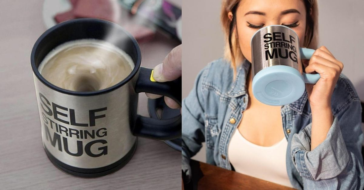 Have a Perfect Cup of Tea or Coffee with This Self Stirring Mug