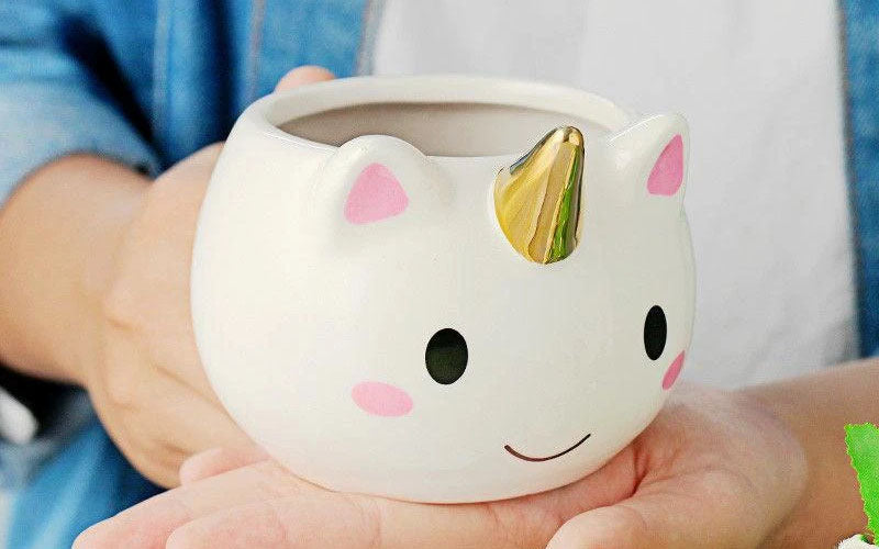 Gold Unicorn Mug