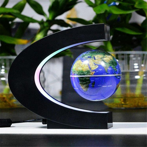 LED Floating Globe Lamp with Real-Time Rotation