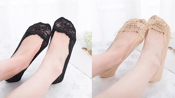 Delicate Lace Scalloped Socks