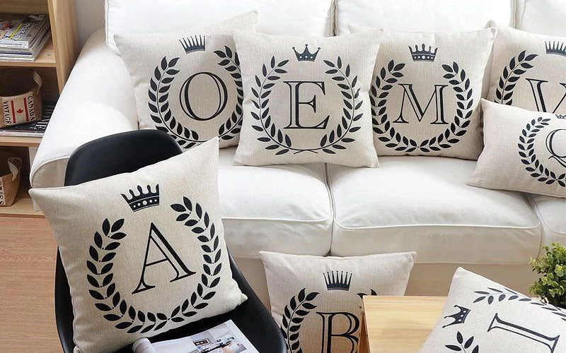 Personalized Alphabet Pillow Cover