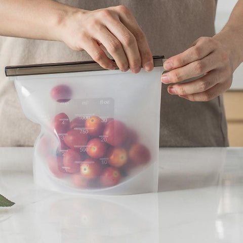 Reusable Silicone Storage Bags for Food