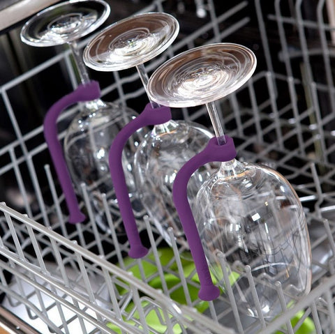 Silicone Wine Glass Holder for Dishwasher Set