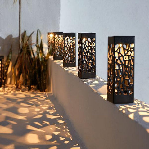 Solar Powered Moroccan Tower Lanterns