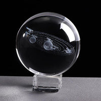 Inspire Uplift 6 CM / with crystal base Engraved Solar System Sphere