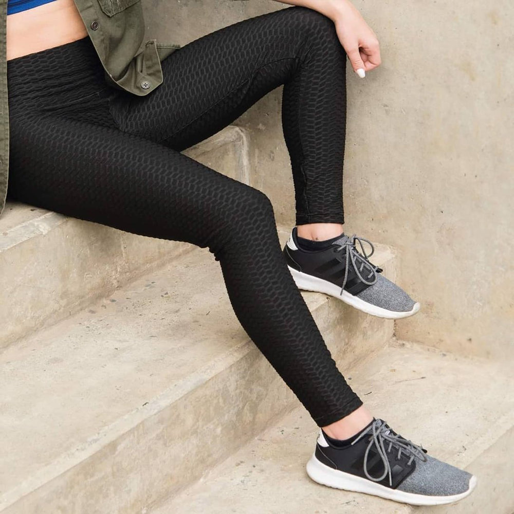 Inspire Uplift Anti-Cellulite Compression Leggings Black / S Anti-Cellulite Compression Leggings