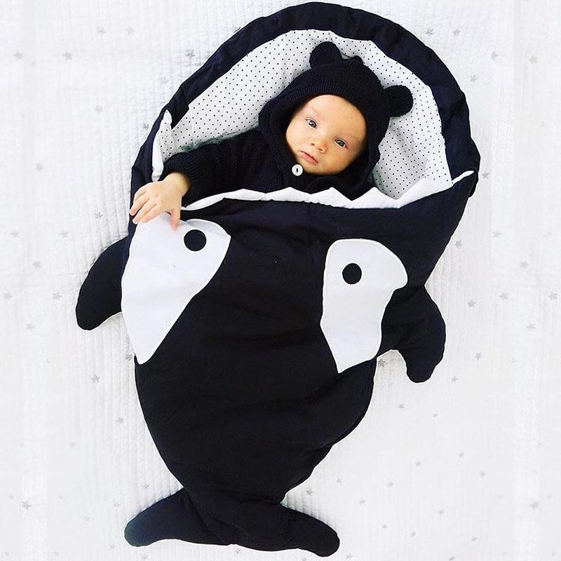 Inspire Uplift Baby Sleeping Bag Black Mr. Shark Baby Sleeping Bag