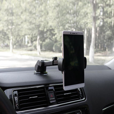 Inspire Uplift Black Car Phone Retractable Mount Holder