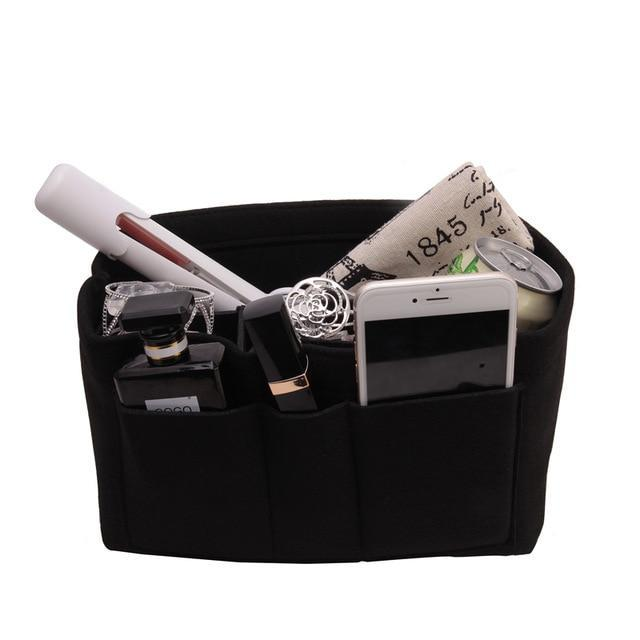 Inspire Uplift Black / Small Multi-Pocket Handbag Organizer