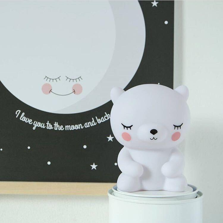 Inspire Uplift Blue Teddy Night Light