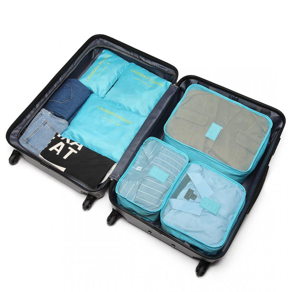 Inspire Uplift blue Travel Packing Organizer Set