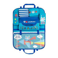 Inspire Uplift Car Organizer Blue/Bear Kids Car Seat Storage Organizer