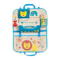Inspire Uplift Car Organizer Blue/Lion Kids Car Seat Storage Organizer