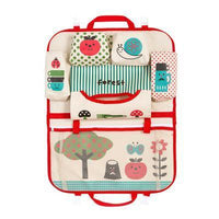 Inspire Uplift Car Organizer Red/Apple Tree Kids Car Seat Storage Organizer
