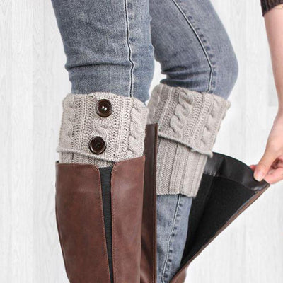 Inspire Uplift Clothes Light gray Knit Boot Toppers