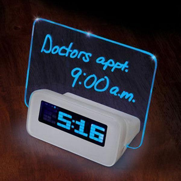Inspire Uplift Digital Alarm Clock with Message Board Digital Alarm Clock with Message Board