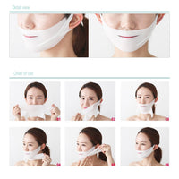 Inspire Uplift Double Chin Lifting Treatment V-Line Mask 4-Sheets Double Chin Lifting Treatment V-Line Mask 4-Sheets