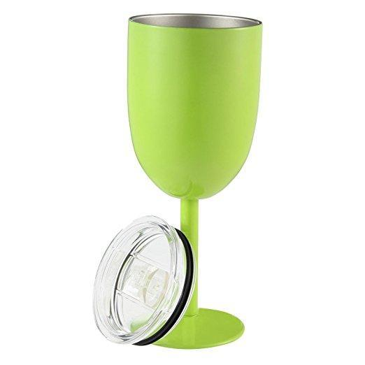 Inspire Uplift DrinkUp Insulated Wine Cups Green DrinkUp Insulated Wine Cups