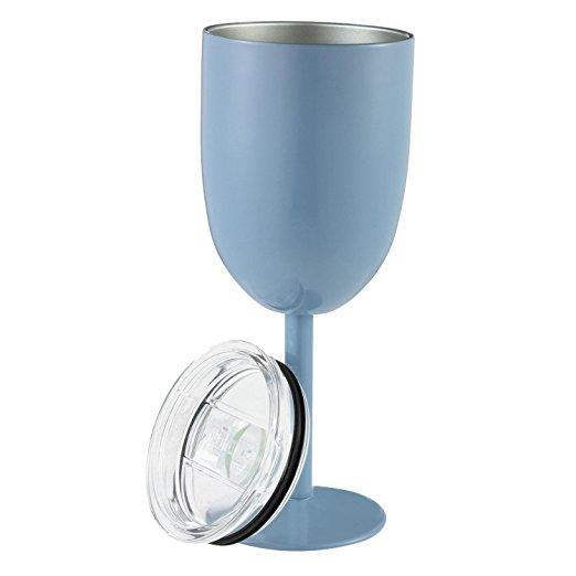 Inspire Uplift DrinkUp Insulated Wine Cups Light Blue DrinkUp Insulated Wine Cups