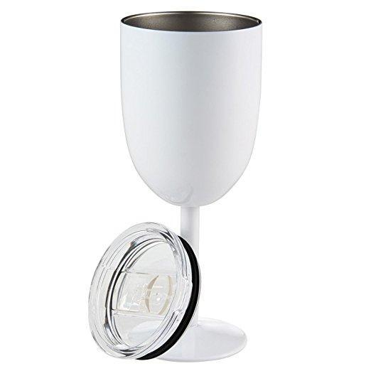 Inspire Uplift DrinkUp Insulated Wine Cups White DrinkUp Insulated Wine Cups