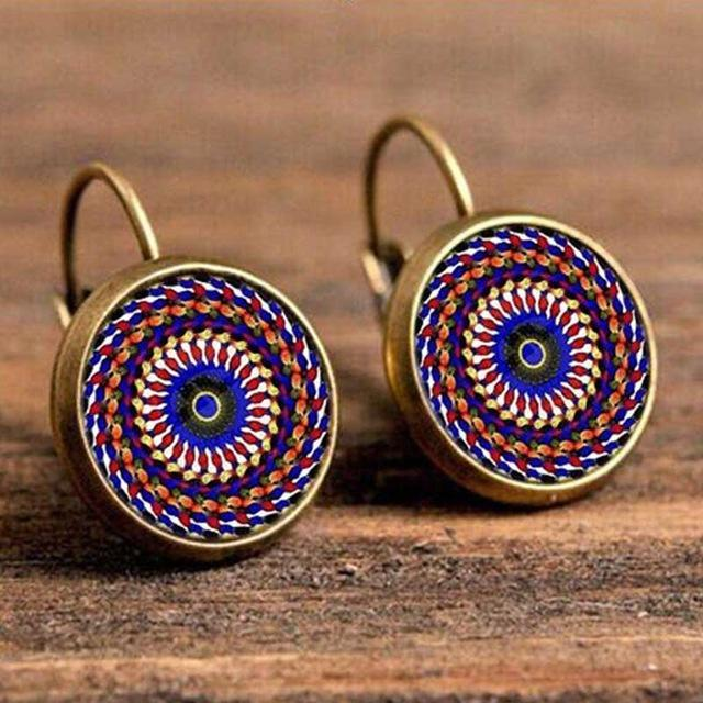 Inspire Uplift Earrings Spiral Bohemian Glass Earrings