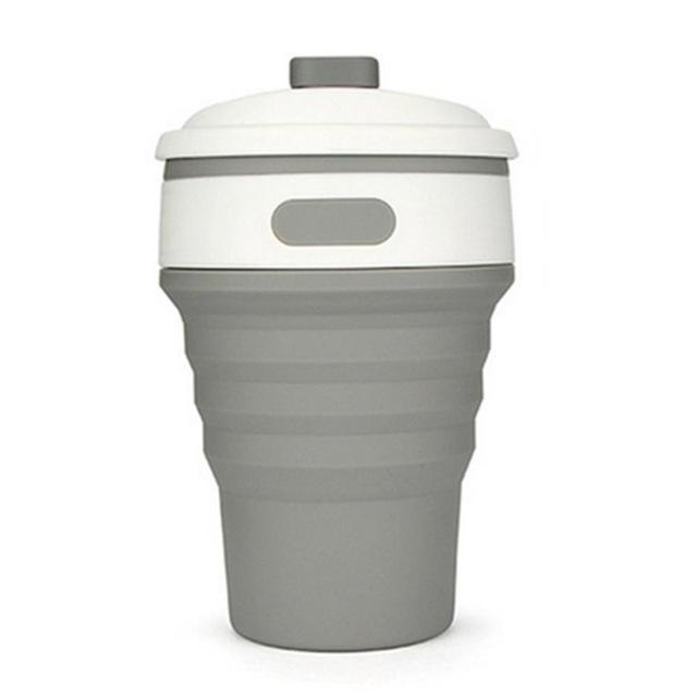 Inspire Uplift Eco Collapsible Cup Grey Eco Collapsible Cup