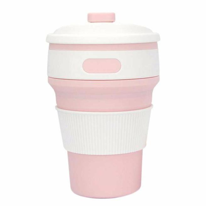 Inspire Uplift Eco Collapsible Cup Pink Eco Collapsible Cup