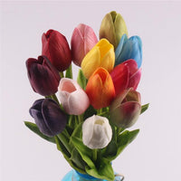 Inspire Uplift Faux Flowers Mix of Colors 12 Real Touch Tulip Bouquet