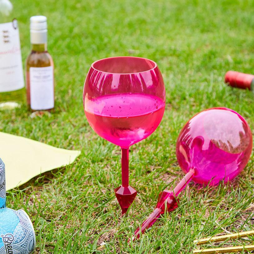 Inspire Uplift Floating Wine Glass Pink Floating Wine Glass