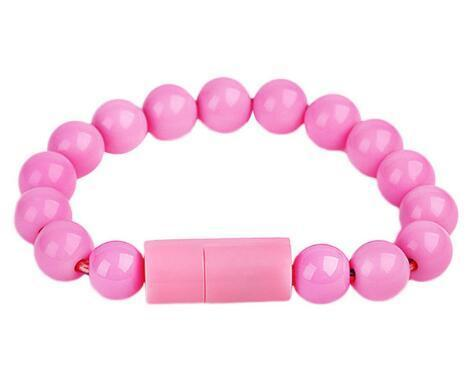 Inspire Uplift for iPhone / Pink Beaded Charging Bracelet
