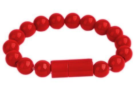 Inspire Uplift for iPhone / Red Beaded Charging Bracelet