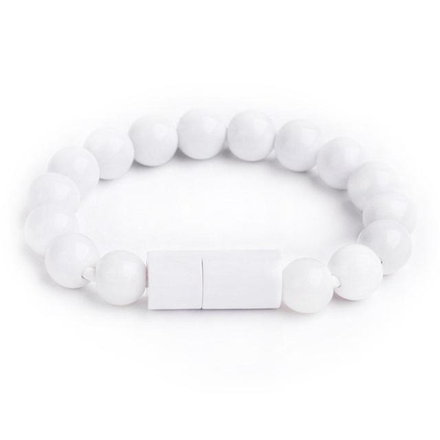 Inspire Uplift for iPhone / White Beaded Charging Bracelet