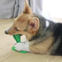 Inspire Uplift Green Dog Toothbrush Toy