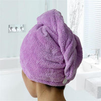 Inspire Uplift Hair Towel Purple Comfy Quick Dry Hair Towel
