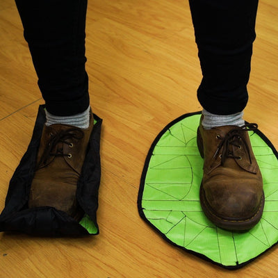 Inspire Uplift Hands Free Reusable Shoe Covers Green Hands Free Reusable Shoe Covers