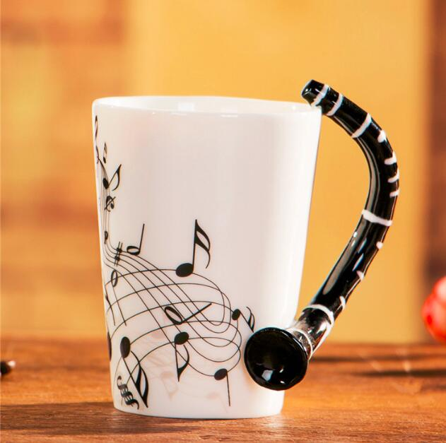 Inspire Uplift Home & Kitchen Flute Novelty Guitar Ceramic Mug