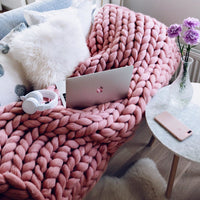 Inspire Uplift Home & Kitchen Handmade Chunky Knit Blanket