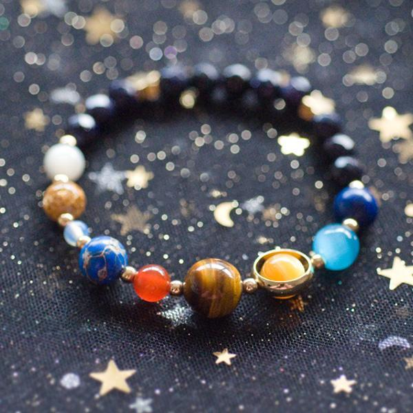 Solar system space bracelet for The universe conspires jewelry