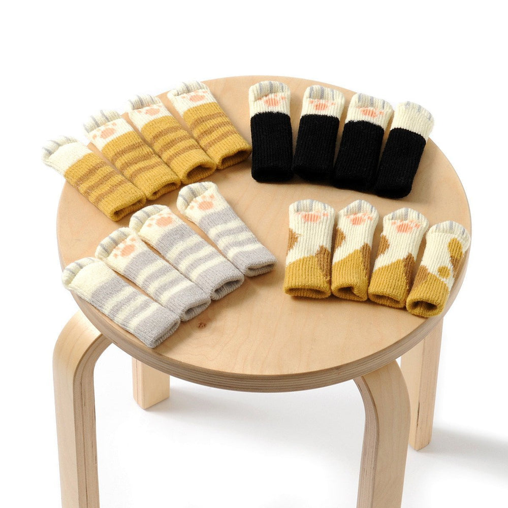 Inspire Uplift Kitty Paw Chair Socks Stripes Kitty Paw Chair Socks