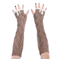 Inspire Uplift Knitted Fingerless Texting Gloves Knitted Fingerless Texting Gloves