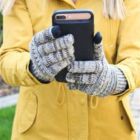 Inspire Uplift Knitted Texting Gloves Light gray Knitted Texting Gloves
