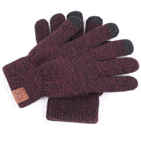 Inspire Uplift Knitted Texting Gloves Wine Knitted Texting Gloves