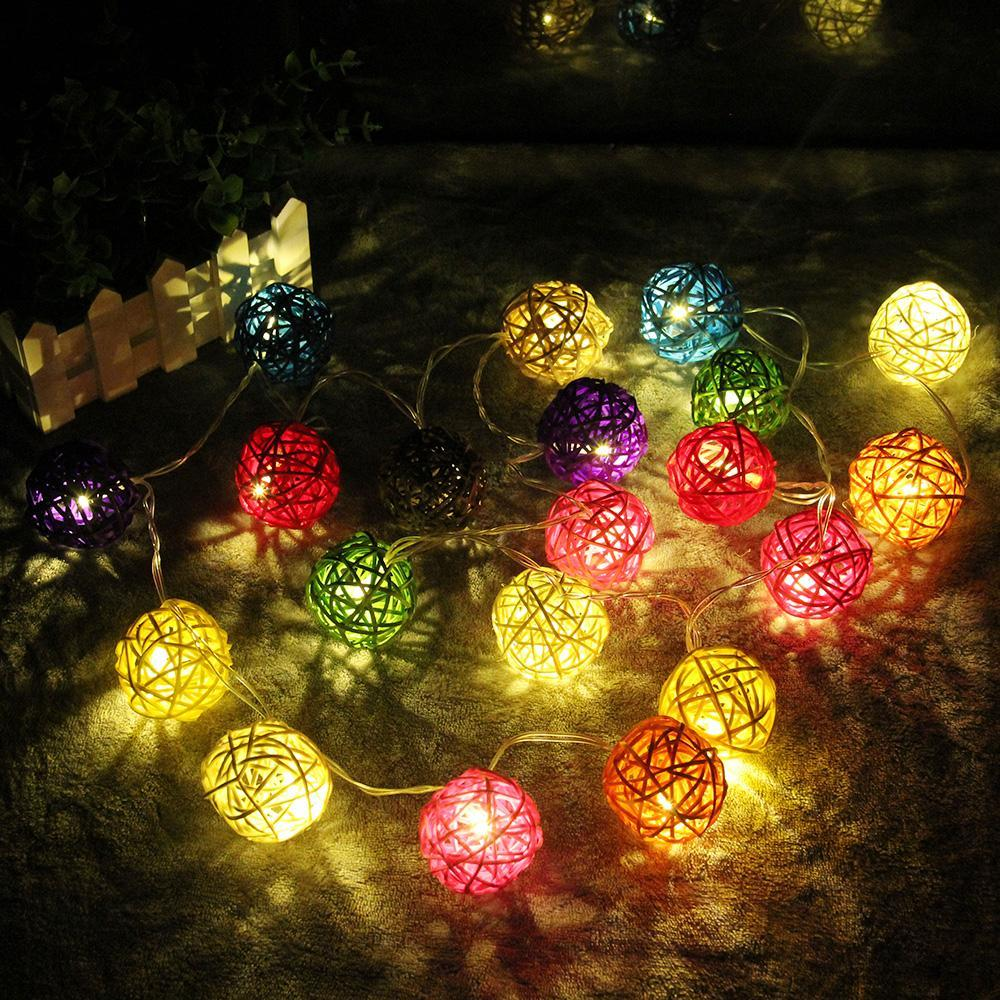 Inspire Uplift Lights 5CM Colorful Ball / Warm White Gold Ball LED String