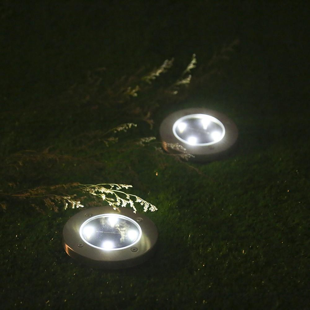 Inspire Uplift Lights White / 2 Leds LED Solar Powered In-Ground Lights