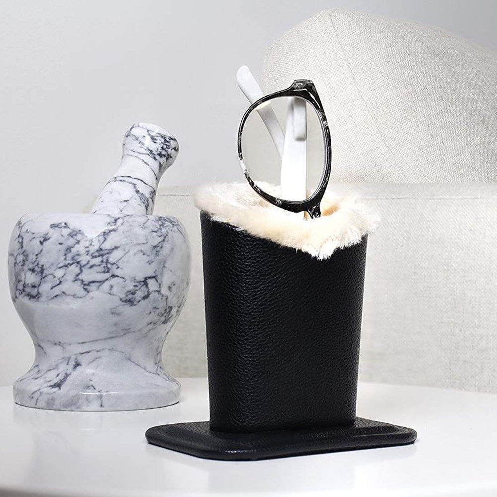 Inspire Uplift Luxury Faux Fur Eyeglass Holder Black Luxury Faux Fur Eyeglass Holder